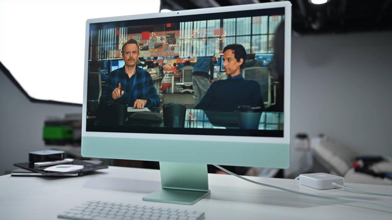 The 24-inch iMac has a fresh design