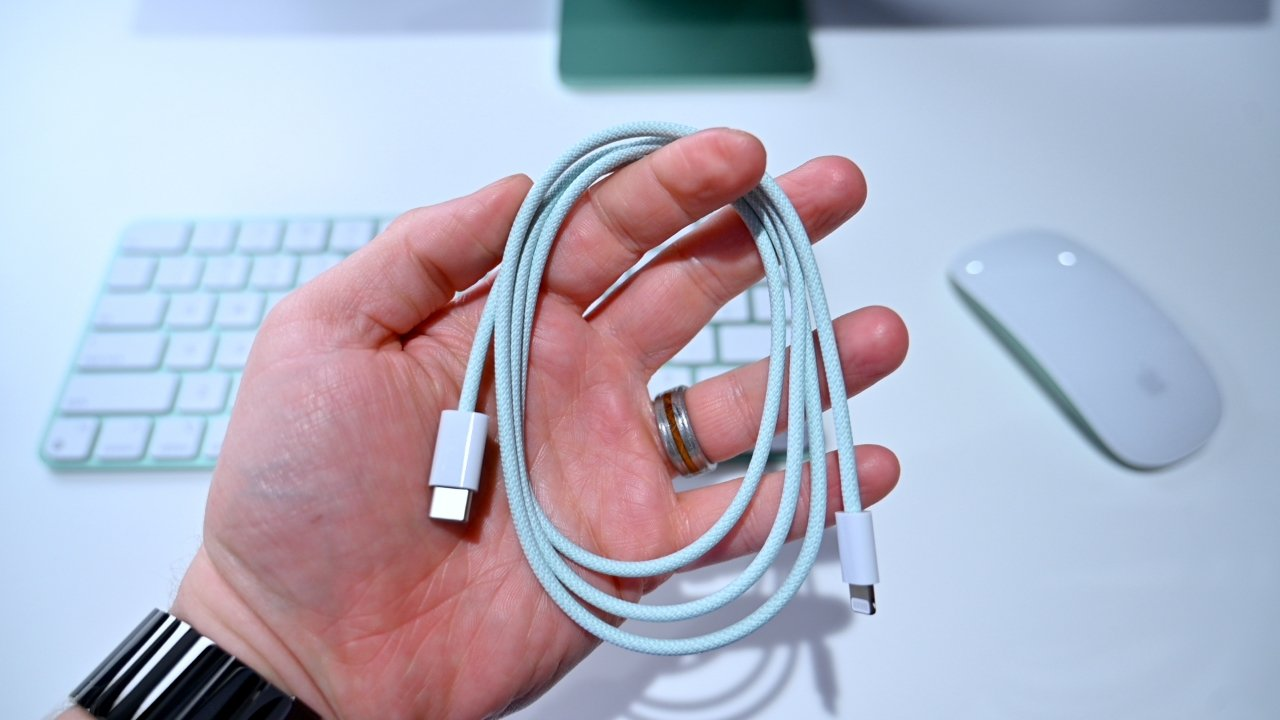Customers will get a color-matched Lightning cable for charging their accessories