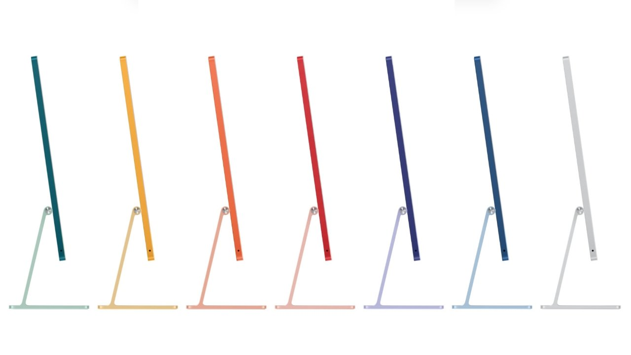 The seven iMac colors
