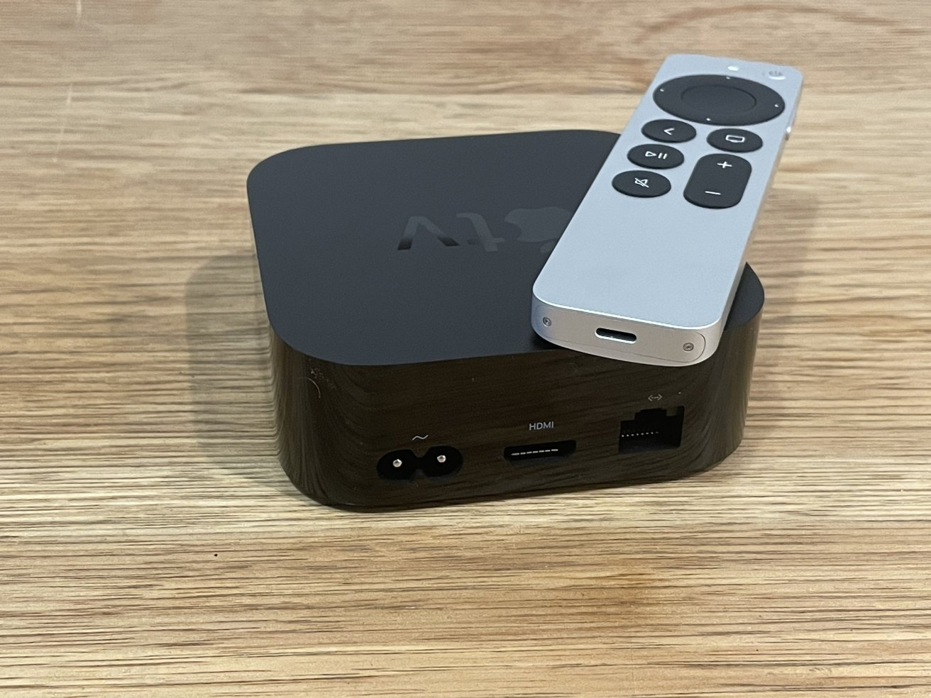 The new Apple TV 4K includes a HDMI port and an Ethernet port
