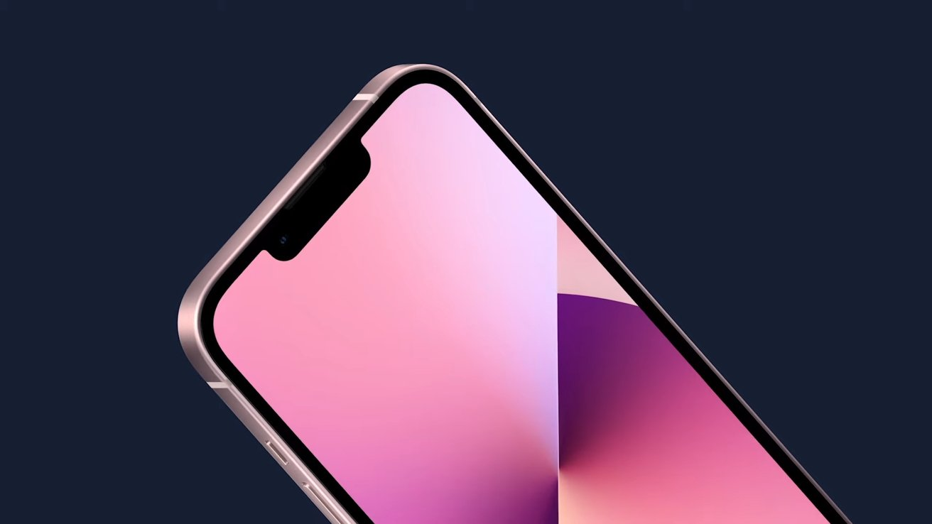 The iPhone 13 features a 20% smaller notch