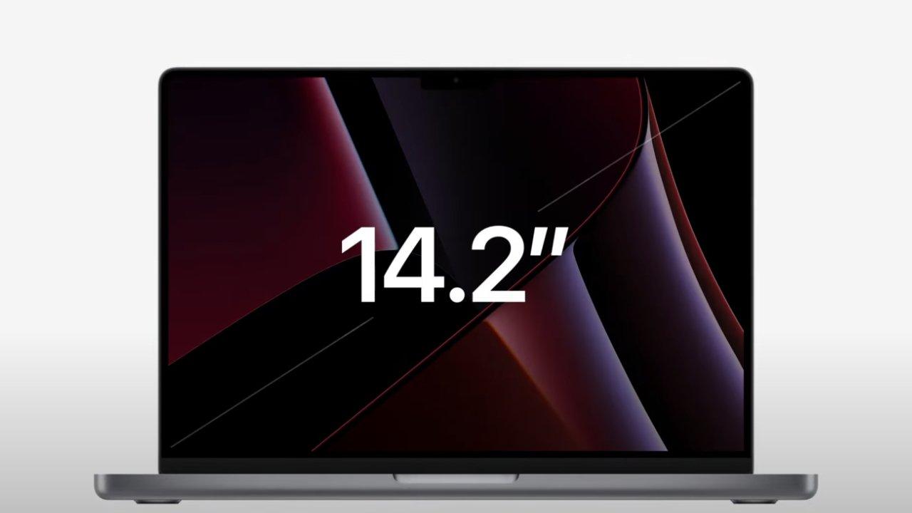 The 14-inch MacBook Pro has a 14.2-inch Liquid Retina Display