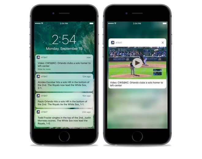 iphone lock screen notifications mlb at bat adds highlights in notification center 4938
