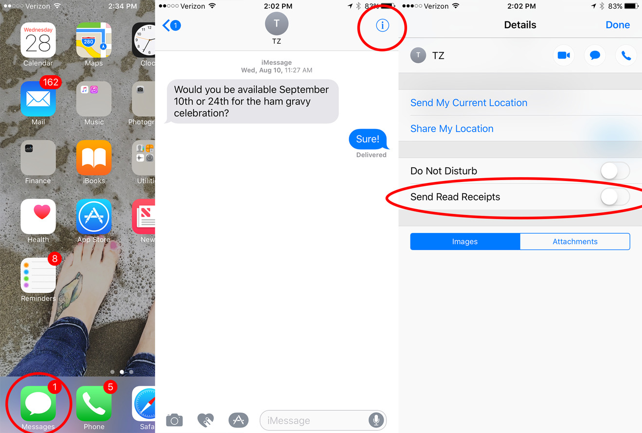read messages on iphone ios 10 tips how to turn on individual read receipts 3469