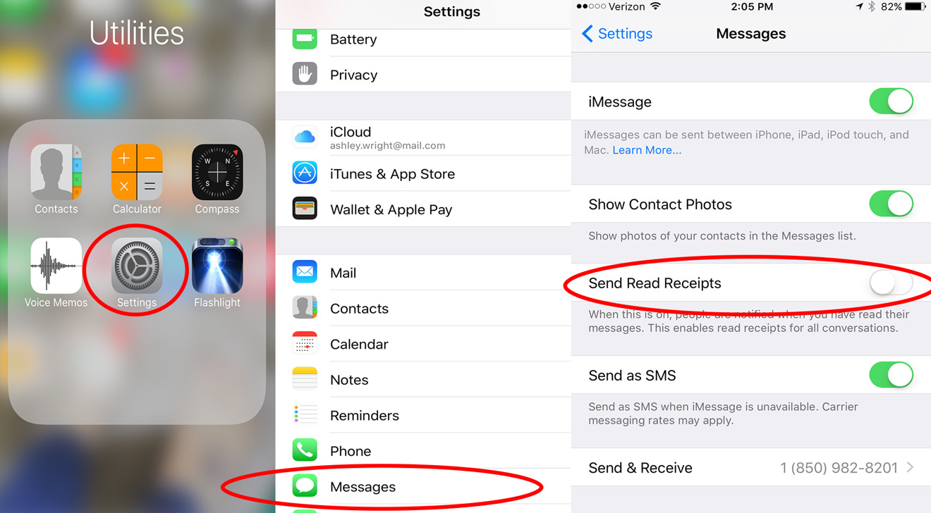 Ios 10 Tips How To Turn On Off Individual Read Receipts In Apple S Messages App Appleinsider