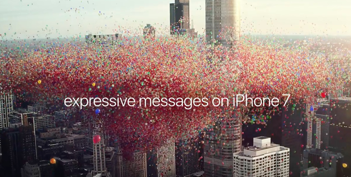 Apples Latest IPhone 7 Ad Brings IOS 10 Happy Birthday Balloons In Messages To Life