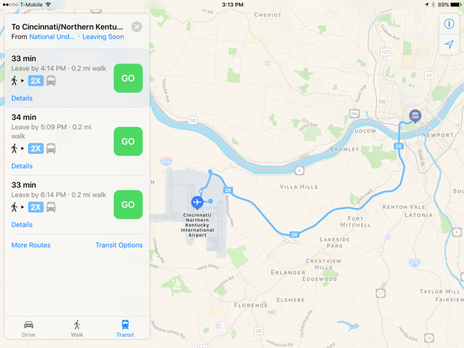 Apple Extends Maps Transit Directions To Several Ohio Cities - Map of ohio cities
