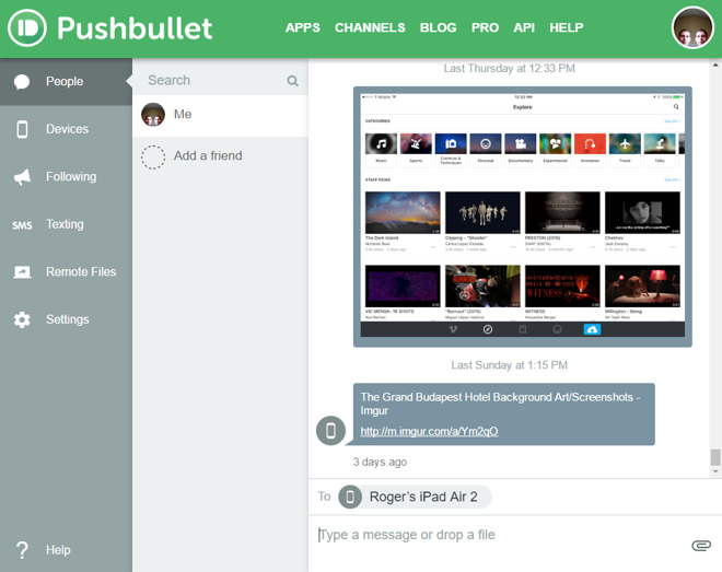 Pushbullet makes cross-platform link and file sharing easier