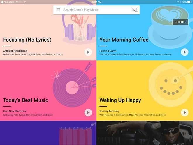 Google revamps Play Music with recommended playlists based