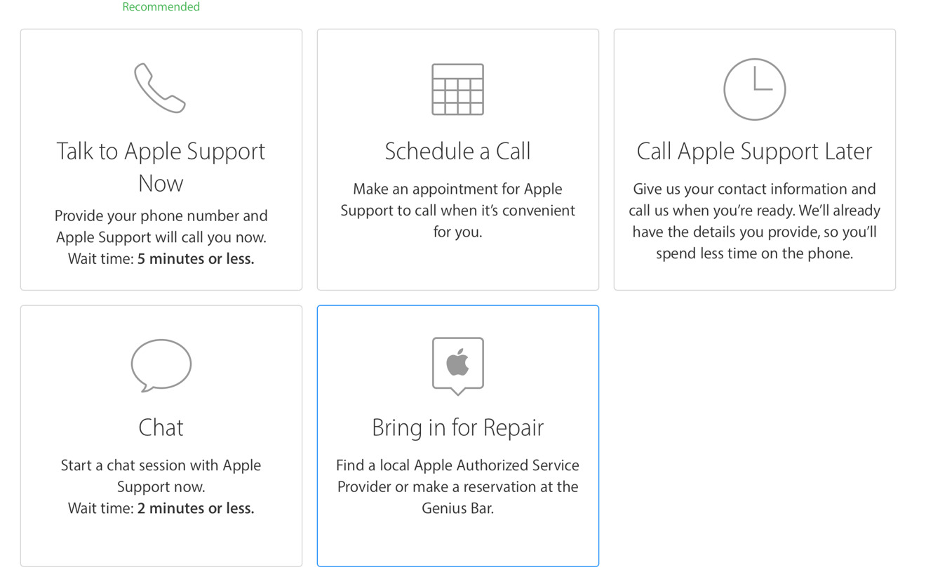 apple adds ability to schedule third-party service appointments