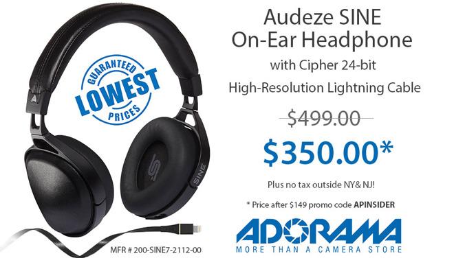 f0d28c7c67d Lowest Price Ever: Audeze Sine On-Ear 24-bit High-Resolution ...