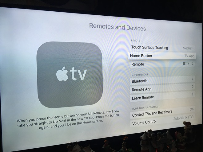 How to change back the Apple TV's Home button behavior in tvOS 10 1