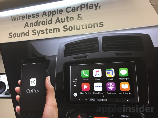hands on apple carplay goes wireless over wi fi with. Black Bedroom Furniture Sets. Home Design Ideas