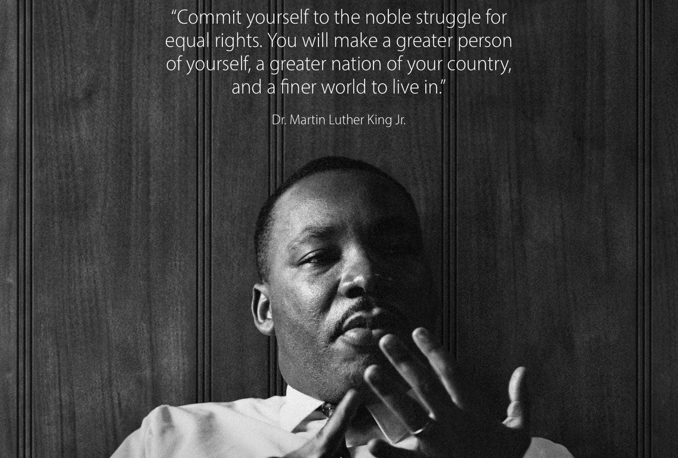 Apple Commemorates Martin Luther King Jr Day With Quote On Website