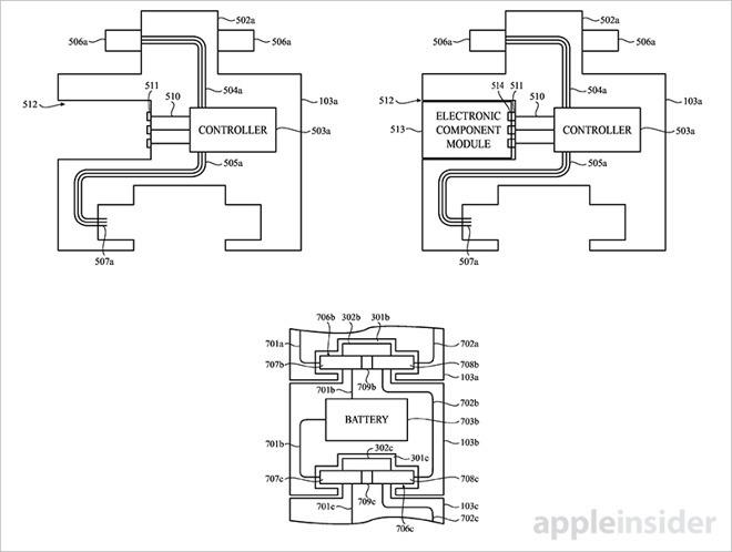 apple patent details modular apple watch accessories