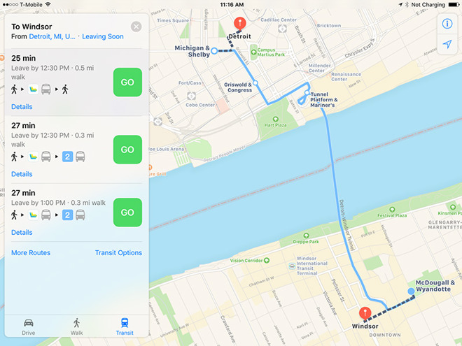 Apple Maps gains public transit directions for Detroit ... on memphis map, united states map, duluth map, chicago map, toronto map, henry ford hospital map, royal oak map, great lakes map, cincinnati map, compton map, michigan map, las vegas map, pittsburgh map, atlanta map, quebec map, baltimore map, highland park map, usa map, st louis on map, new york map,