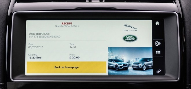 jaguar shell app lets uk drivers refuel using apple pay from inside