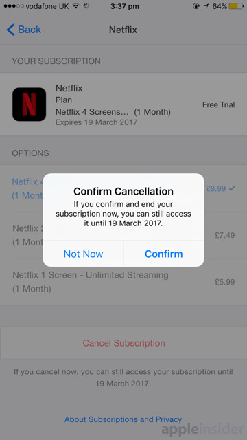 How to cancel an App Store subscription using your iPad or