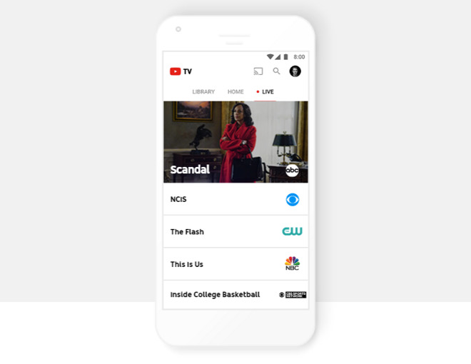 YouTube TV to offer live TV from four major networks this
