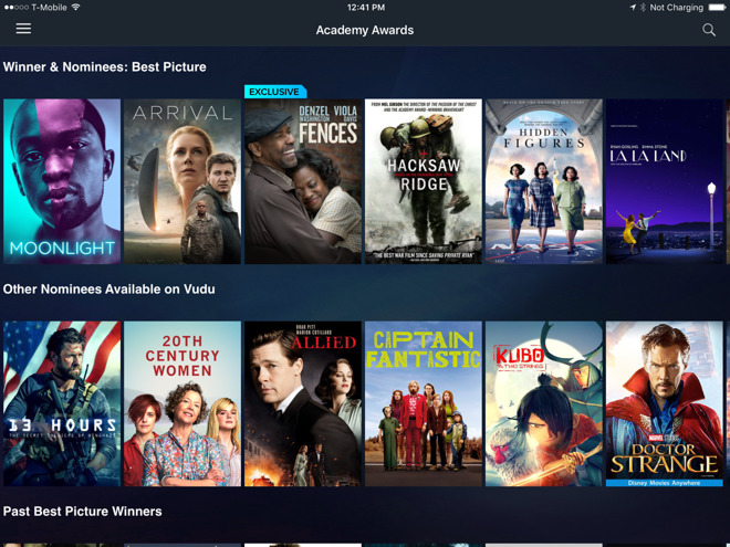 iTunes video competitor Vudu coming to app for fourth-gen
