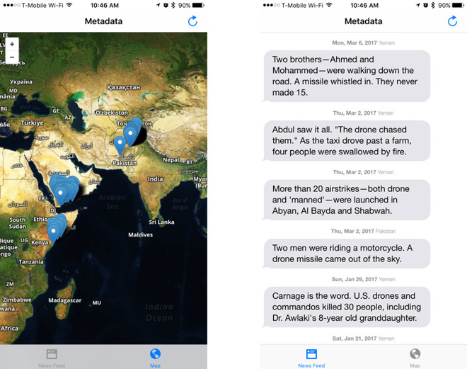 Apple permits iPhone app chronicling US drone strikes to return to