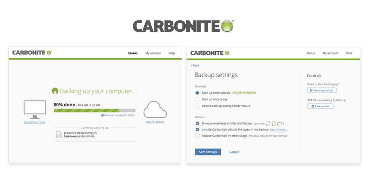 Carbonite backup for Mac