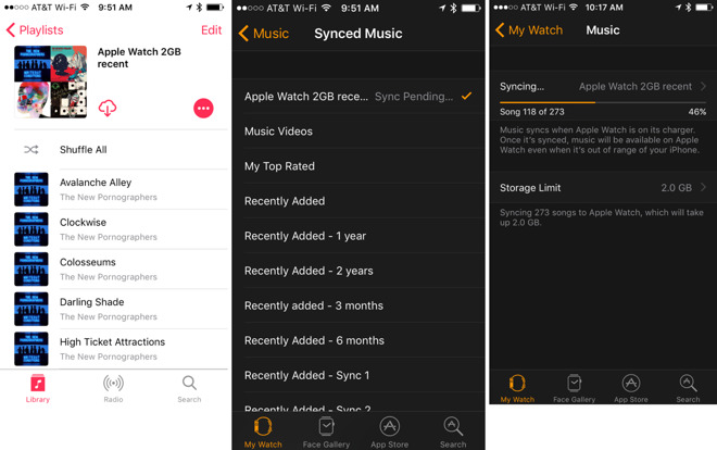 How to keep 2GB of most recently added music synced to your