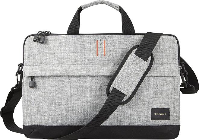 Looking for a lightweight case that has a shoulder strap for added  convenience  The Targus Strata in silver features a red interior for added  visibility ... 6e872a016
