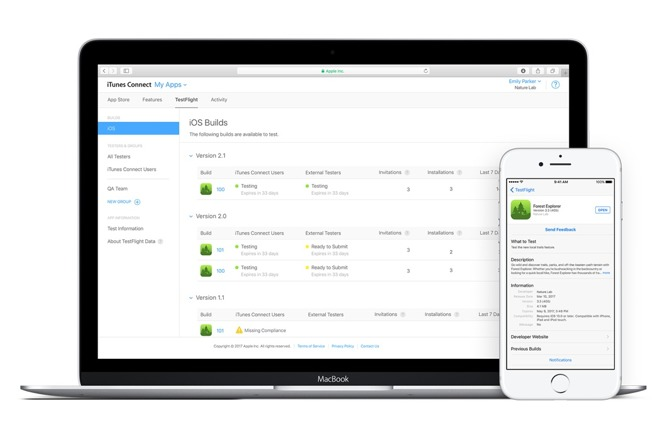 Apple updates testflight to enable testing of multiple app builds released on tuesday the update to testflight apples ios app testing platform enables the ability to distribute multiple builds of an app at the same stopboris Choice Image