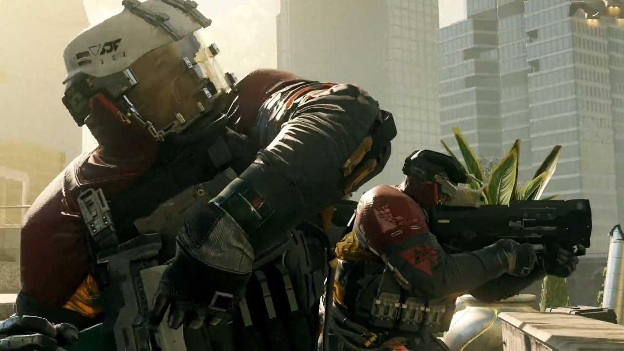The latest Call of Duty game, Infinite Warfare.