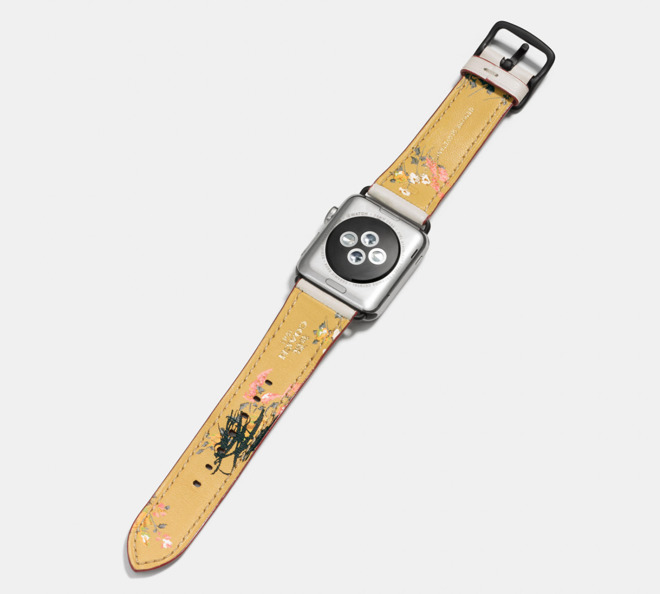 b6efb02a Coach debuts new decorative leather spring Apple Watch bands ...