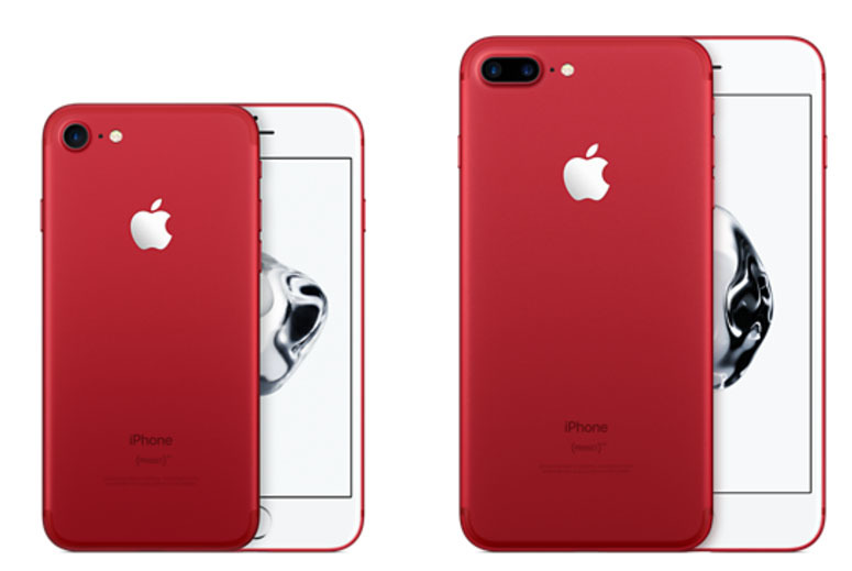 red iPhone 7 and 7 Plus
