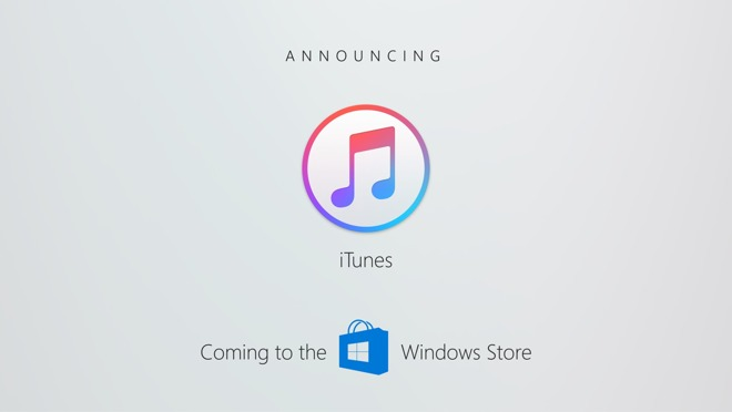 3e26d370b1 Microsoft officially announced that iTunes is coming to the Windows Store  as part of its Build developer event on Thursday. Though the importance of  iTunes ...