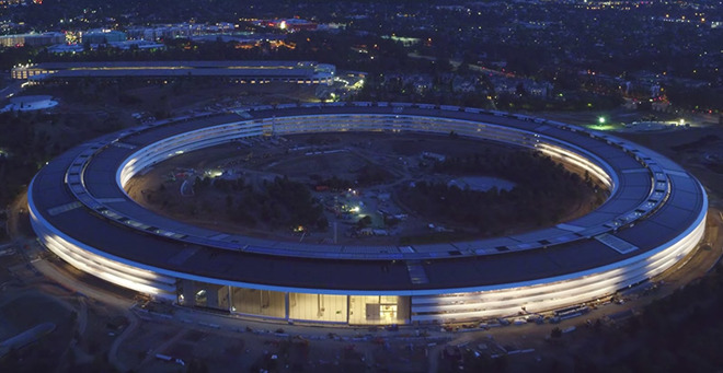 Latest Apple Park Footage Shows Nighttime Views Of Main