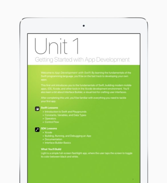 Apple puts free Swift curriculum on iBooks, plans courses at US schools