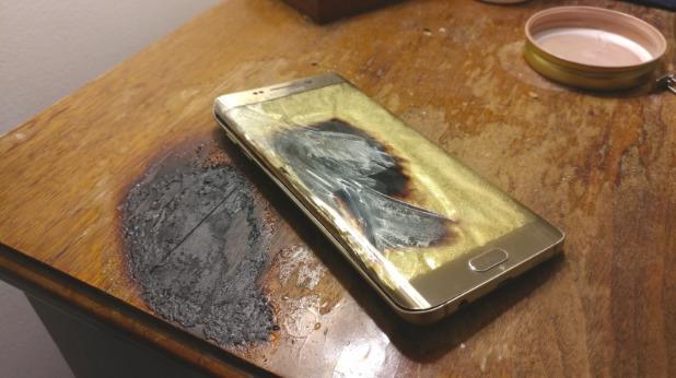 Galaxy S6 Edge battery fire