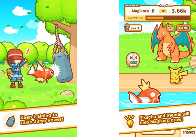 58931c34 The Pokemon Company has launched a new game for Apple's iPhone and iPad, Magikarp  Jump, looking to build in a small way off of the success of Pokemon Go.