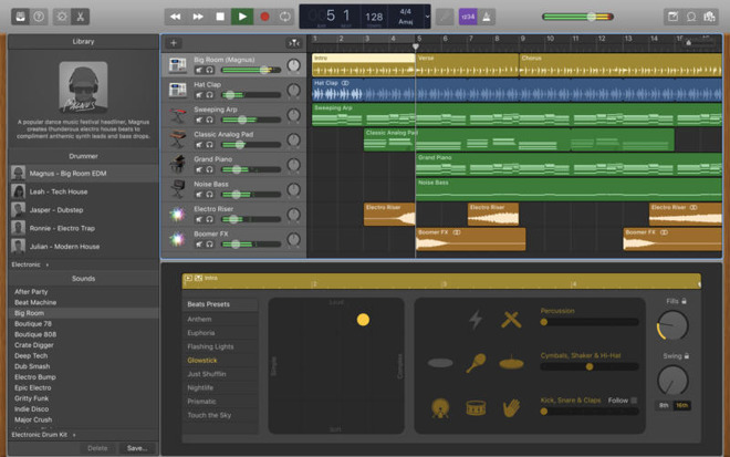 Garageband for mac update adds touch bar support more virtual drummers - How to download garage band ...