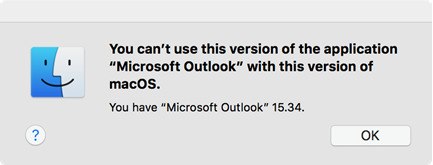 High Sierra leaves Microsoft Office for Mac 2011 behind