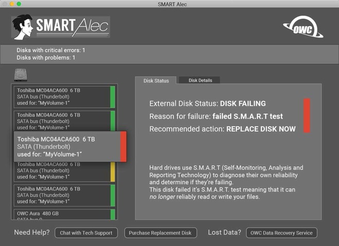 Hard drive and SSD status monitor utility SMART Alec coming
