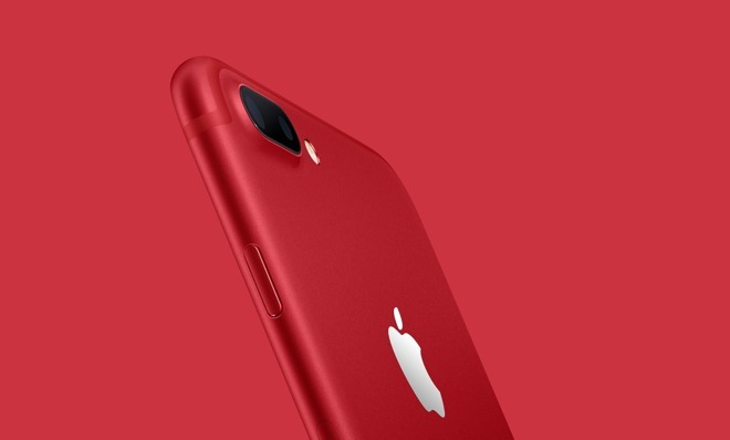 The (Product)Red iPhone 7 Plus.