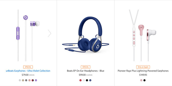 10f7f469690 Apple on Monday updated its online storefront to reflect minor discounts on  certain Beats products, including both in-ear and over-ear headphones, ...