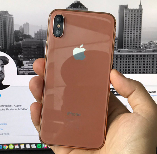 New Dummy Unit Of Apples IPhone 8 Shows Off Alleged Gold Copper Color