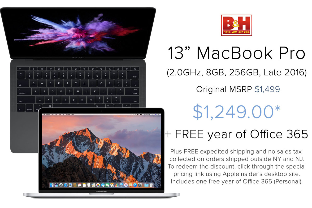 13 inch MacBook Pro with free Office365 deal