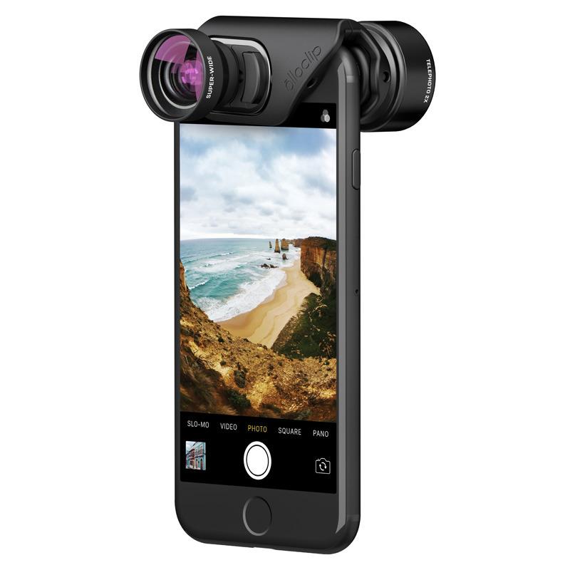 Olloclip's Vista set, which includes 2x telephoto and 120-degree super-wide lenses.