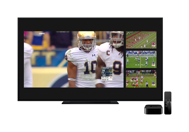 ESPN app for Apple TV update adds the ability to watch four live