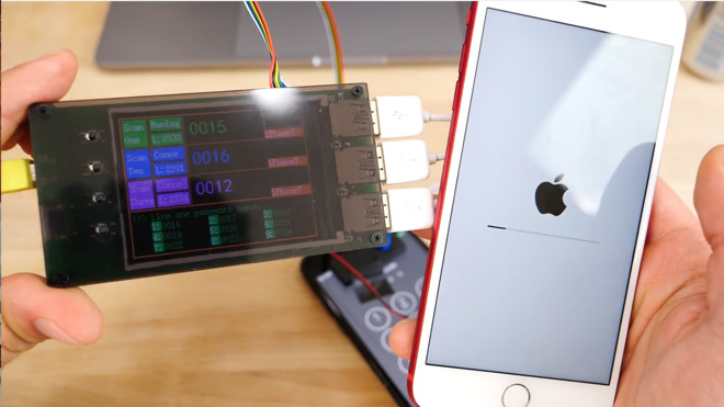 Small $500 device shown to brute force hack iPhone 7 lock
