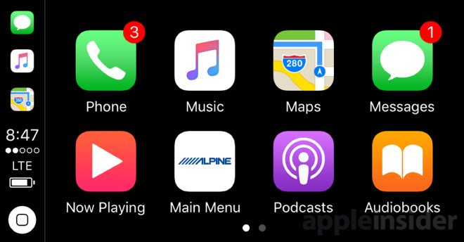 Note the wireless signal just above the home button