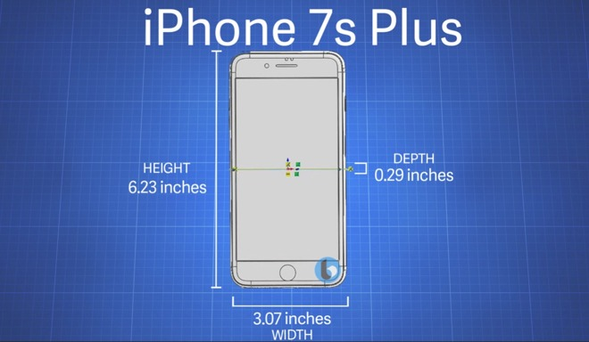new style ca7c8 a37b4 iPhone 7s' family slightly larger than iPhone 7, may confound some ...