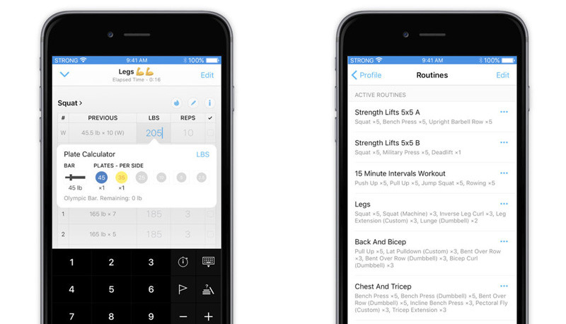 Strong also includes an Apple Watch app, but you'll probably still want your iPhone nearby at the gym.